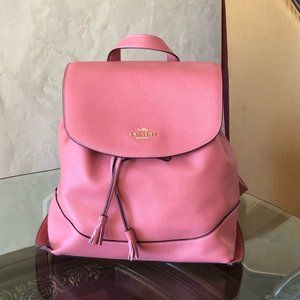 NWT Coach drawstring Backpack leather